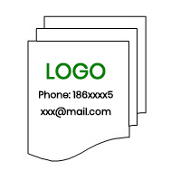 advertise logo on thermal paper rolls